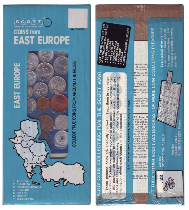 Coins from East Europe érmesor